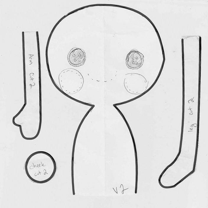 Схема куклы из ткани фото 905