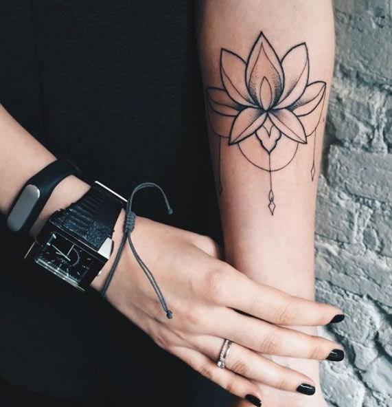 Tatuaże Dla Dziewczynek Na Nadgarstku Z Kwiatów Symboliczne